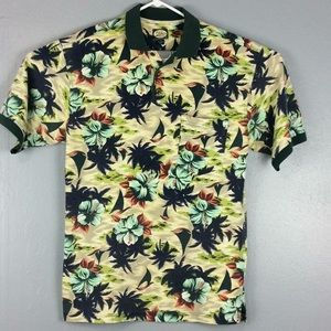 Tommy Bahama Tropical 3 Button Polo Shirt Sz M